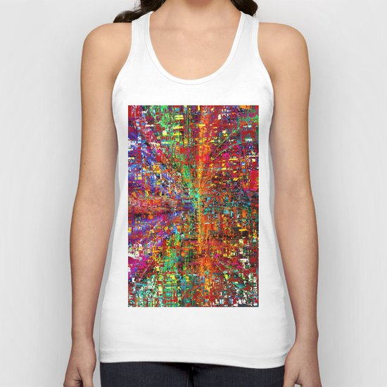 colourful peace Unisex Tank Top