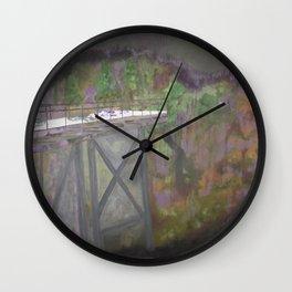 Bridge to Nowhere Wall Clock