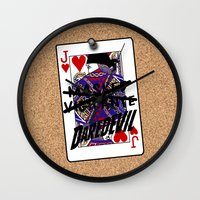 lawyer Wall Clocks featuring Vigilante Named by Kramcox