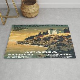 Vintage poster - Acadia National Park Rug