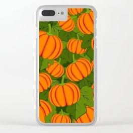 C13D Pumpkin Harvest Clear iPhone Case
