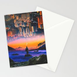 Everything Is Upside Down Stationery Cards