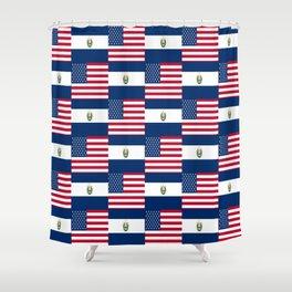 Mix of flag:  Usa and Salvador Shower Curtain