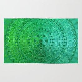 Green Mandala Circle Rug