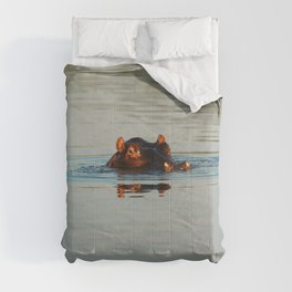 Cute Hippo Bathing Comforters