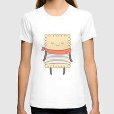 le petit beurre, the cookie MEDIUM Womens Fitted Tee White