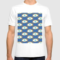 Eyes don't lie White MEDIUM Mens Fitted Tee