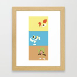 PKMN Kalos Starters- large Framed Art Print