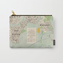 Vintage East Boston, Winthrop & Chelsea MA Map (1896) Carry-All Pouch