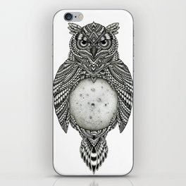 Owl and the Moon iPhone Skin
