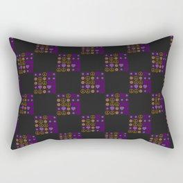 Halloween Patchwork Weave Rectangular Pillow