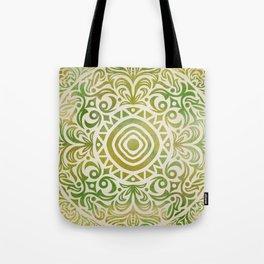 mandala6 Watercolor Mandala Tote Bag