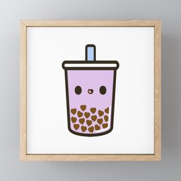 Love Heart Bubble Tea Framed Mini Art Print