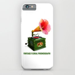 ORGANIC INVENTIONS SERIES: Vintage Floral Phonograph iPhone Case
