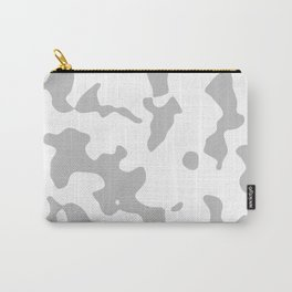 Large Spots - White and Silver Gray Carry-All Pouch