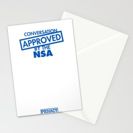 Conversation Approved by the NSA Stationery Cards