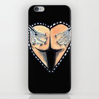 booty iPhone & iPod Skins featuring Booty by Blood and Wine Design Co.