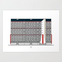 Edificio Residencial Caroata, Catuche y Tajamar Junto al Edificio Tacagua Art Print