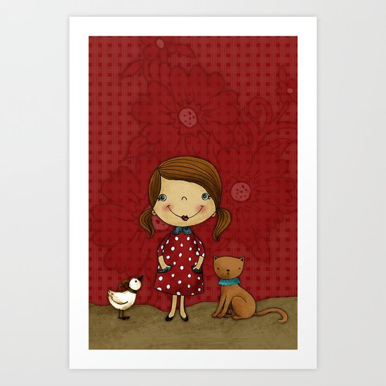 Agnes Pure Joy Art Print