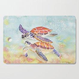 Swimming Together - Sea Turtle Cutting Board