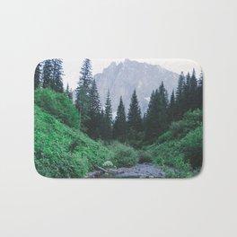 Mountain Through The Lush Forest Bath Mat