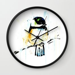 Chickadee - Winter friend Wall Clock