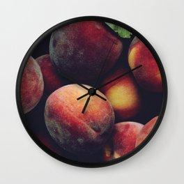 Ripe peaches Wall Clock