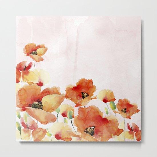 Beautiful Poppies #society6 Metal Print