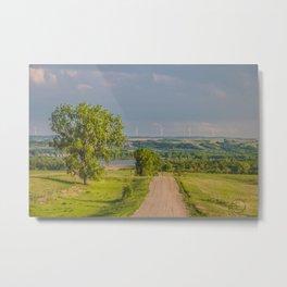 Country Road, North Dakota 4 Metal Print