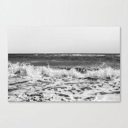 BEACH DAYS XXI BW Canvas Print