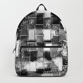 BRICK WALL SMUDGED (Black, White & Grays) Backpack