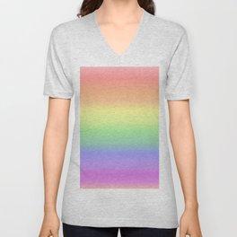 soft rainbow Unisex V-Neck