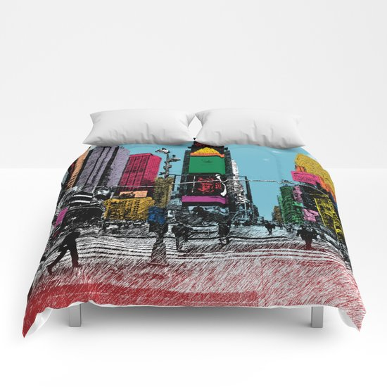 times square Comforters