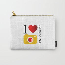 I love photography- Photography lovers passion- yellow camera Carry-All Pouch