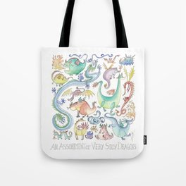 An Assortment of Silly Dragons Tote Bag