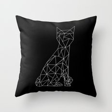 Eleven Quads Cat Throw Pillow
