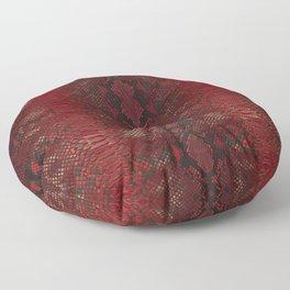 Red Python Snakeskin pattern Floor Pillow