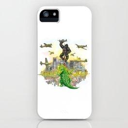 Godzilla vs King Kong  in tokyo ? iPhone Case