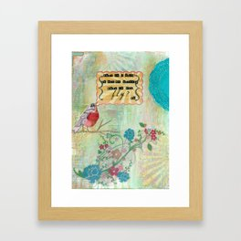 What If You Fly? Framed Art Print