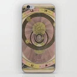 Celestial Planes as According to Tycho Brahe 1708 iPhone Skin