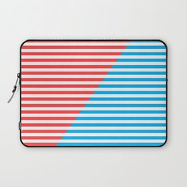 Geometric, Abstract, Red And Blue Stripes, poster Laptop Sleeve