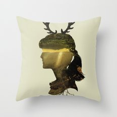 New Fawn Glory Throw Pillow