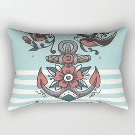 Anchor with birds - Keep my feet on the ground Rectangular Pillow