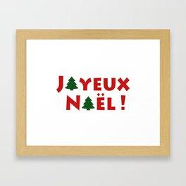 Joyeux Noël ! Framed Art Print