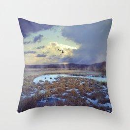 Rising Mist Throw Pillow