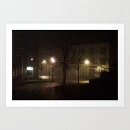 Late Night Misty Evening Art Print