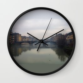 Bridge Gap Over Arno Wall Clock