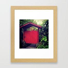 fenceless gate Framed Art Print