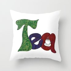 Tea for You and Tea for Me Throw Pillow