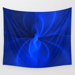 Blue Silk Wall Tapestry
